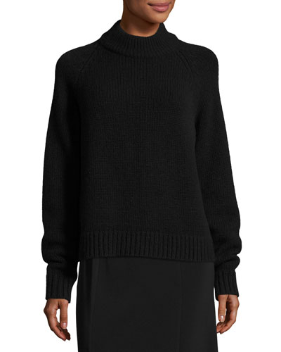 Sephin Mock-Neck Raglan Sweater