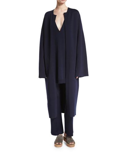 Gant Long Open Coat, Navy