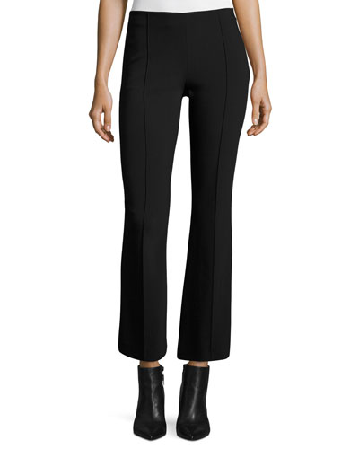 Beca Cropped Boot-Cut Pants, Black