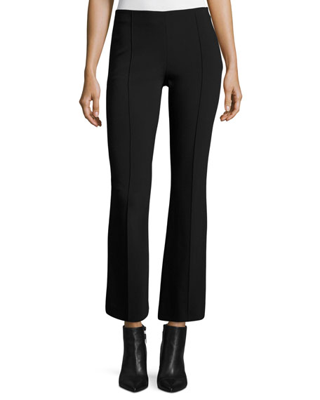 THE ROW Beca Cropped Boot-Cut Pants, Black