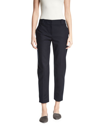 Blake Straight-Leg Ankle Pants, Navy