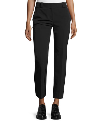 Blake Straight-Leg Ankle Pants, Black
