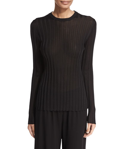 Ninett Ribbed Long-Sleeve Top
