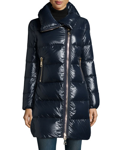 Joinville High-Collar Puffer Jacket, Navy