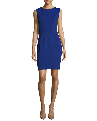 Marley Sleeveless Sheath Dress, Baron Blue