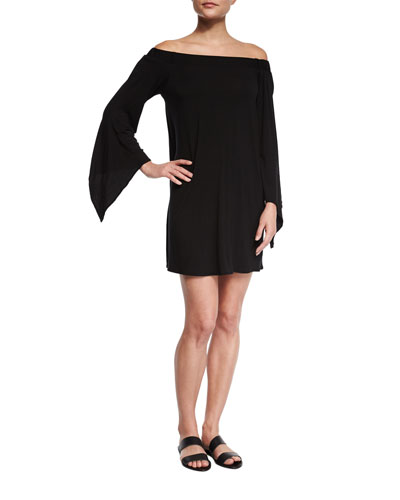 Liquid by Luxe Bell-Sleeve Coverup Dress