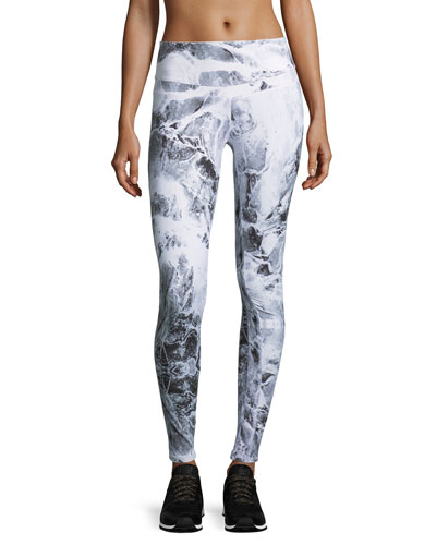 Union Croc-Print Full-Length Sport Leggings