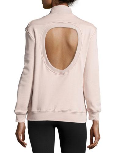 Rochester Cutout-Back Mock-Neck Sweatshirt