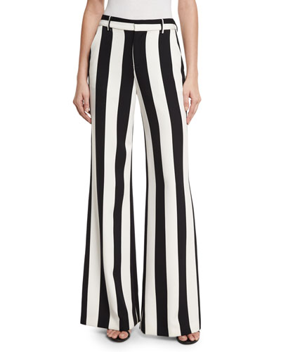 Polyester Spandex Wide Leg Pants | Neiman Marcus