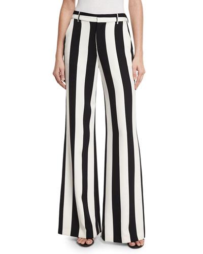 Polyester Spandex Wide Leg Pants | Neiman Marcus