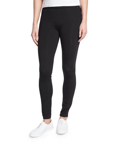 Scuba Jersey Leggings, Black