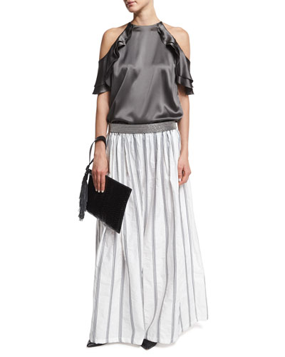 Stripe Wide Leg Pants | Neiman Marcus