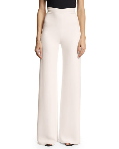 Creased Classic Trousers, Light Pink