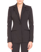 Altuzarra Acacia One-Button Blazer, Black