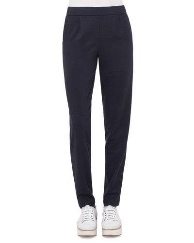 Straight-Leg Pull-On Pants, Deep Blue