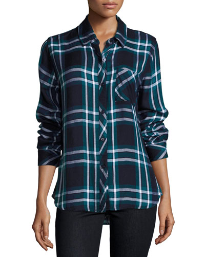 Hunter Plaid Long-Sleeve Shirt, Multi