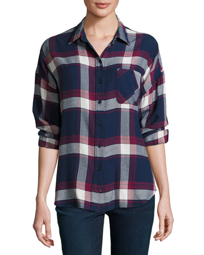 Jackson Plaid Long-Sleeve Shirt, Multi