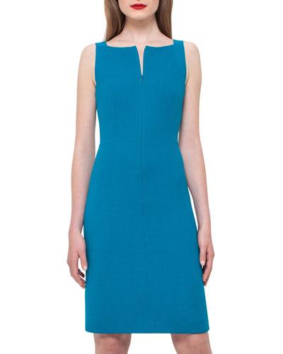 Sleeveless Square-Neck Sheath Dress,  Whirlaway
