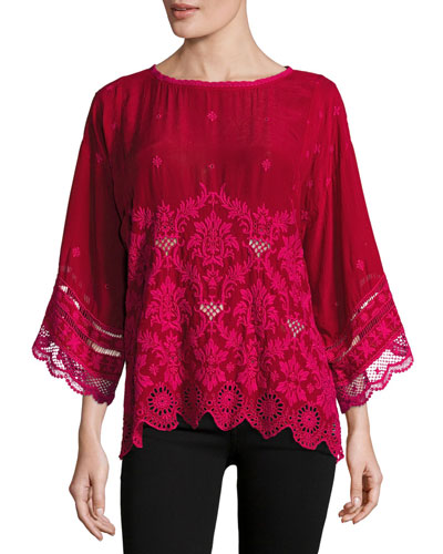 Tasho Georgette Dolman Top