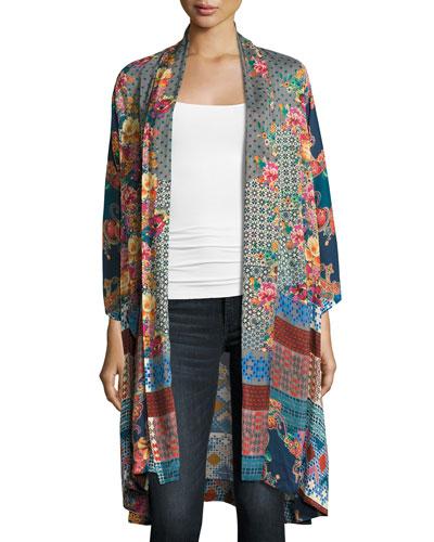 Muda Mix-Print Georgette Kimono