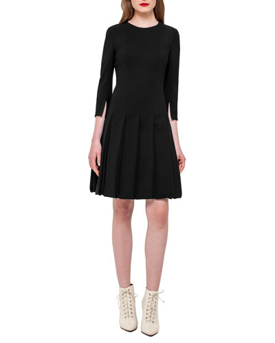 Car Wash 3/4-Sleeve Dress, Black