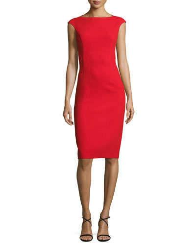 Elliptical Seam Sheath Dress