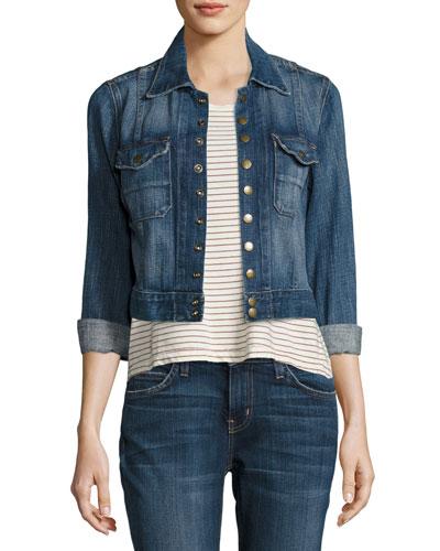 The Snap Jacket, Medium Blue