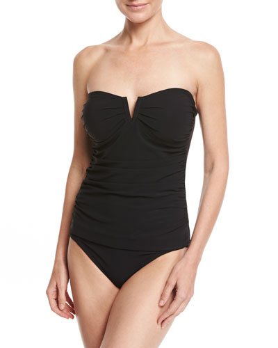 Bright Like A Diamond Bandini Swim Top, Black