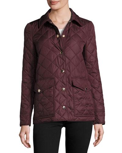 Westbridge Quilted Jacket, Crimson