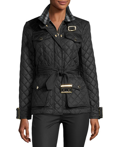 Haddingfield Quilted Jacket, Black
