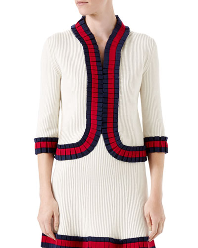 Knit Wool Cardigan, Ivory