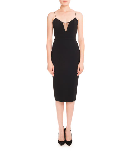 Black Sleeveless Sheath Dress | Neiman Marcus