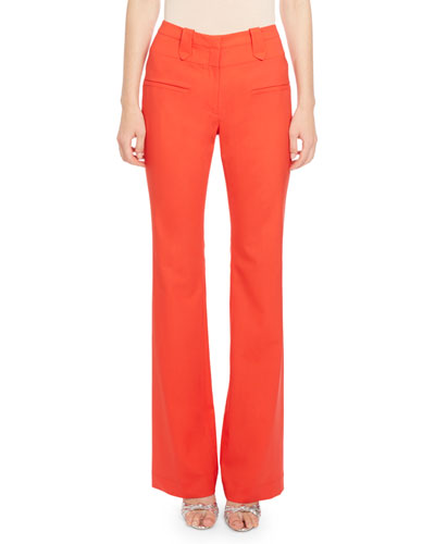 Serge High-Rise Wide-Leg Pants, Red