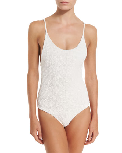 Honolua Smocked One-Piece Swimsuit