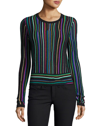Arisha Stripe Knit Sweater, Multicolor