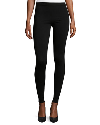 Stretch-Wool Leggings, Black