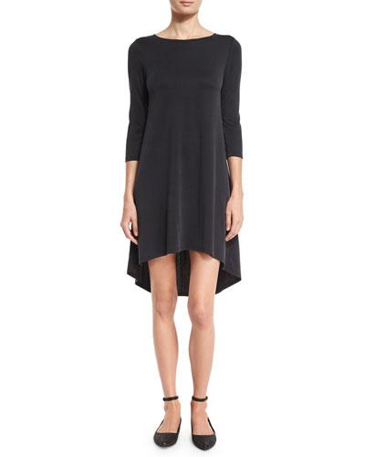 Arias 3/4-Sleeve T-Shirt Dress
