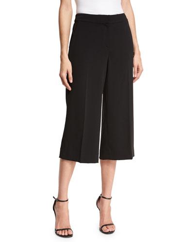 Classic Cady Culotte Pants, Black