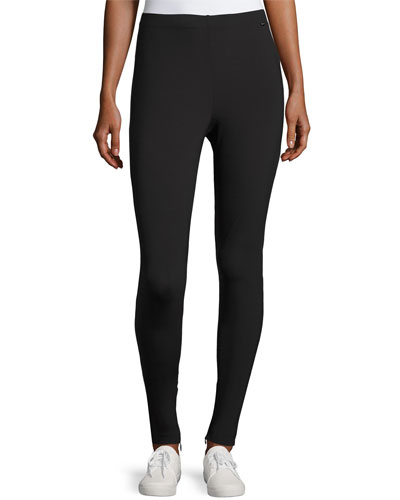 Sport Scuba Zip-Cuff Leggings, Black