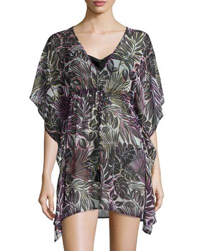 Lively Leaves Coverup, Plus Size