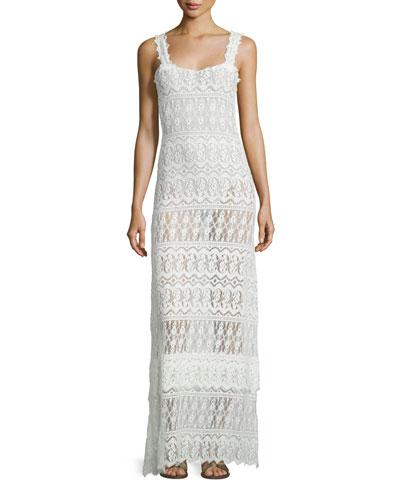 Ios Lace Beach Maxi Dress, Off White