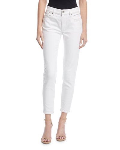 400 Matchstick Ankle Jeans, White