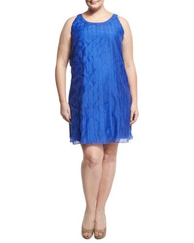 Batiste Pintucked Dress, Plus Size
