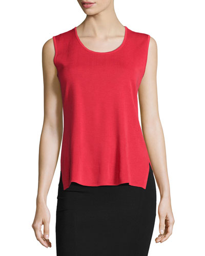Scoop-Neck Tank, Red