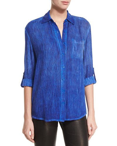 Piper Button-Down Shirt, Blue