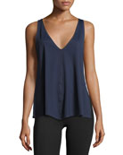 Chance Trapeze Tank Top, Navy