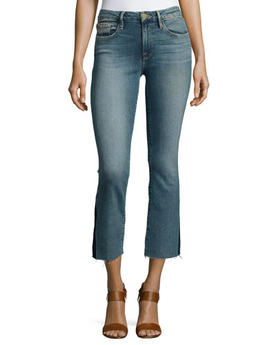 Le Crop Mini Boot-Cut Gusset Jeans, Austin