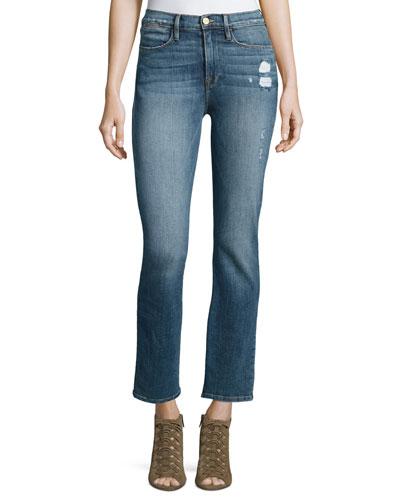 Le High Straight-Leg Jeans, Sunny Gardens