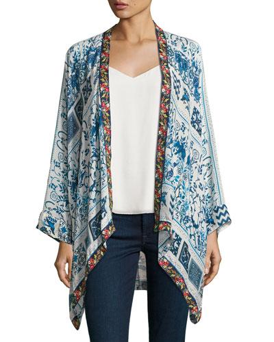 Power Scarf Kimono Jacket