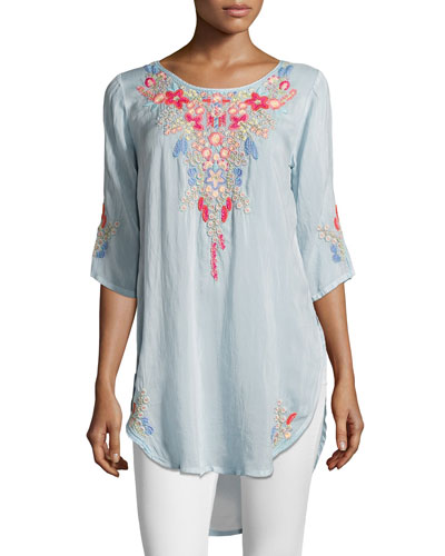 Aubrieta Embroidered Georgette Blouse